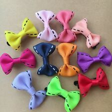 20PCS/LOT Handmade Pet Dogs cat Mixed Ribbon Grooming Hair Bows puppy hair clips