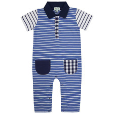 Lilly and Sid Baby Boy Romper Collar