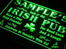 Custom Irish Pub Neon LED sign Name Personalize Sign home pub decor mens gift