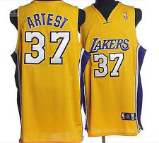 *NEW* LA Lakers Adidas Authentic #37 Artest Metta World Peace Jersey Yellow NBA