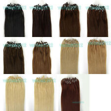 """18""""0.5g/s Easy Loop/Micro Ring Beads Remy Real Human Hair Extensions Straight"""