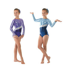 Girls long sleeved gymnastics leotard by Tappers & Pointers gym 10