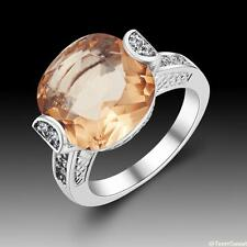 Amazing Friendship Woman Jewelry Morganite 925 Silver Ring size 7 8 9