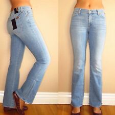 $215 Seven 7 For All Mankind Bootcut Petite Tailorless Jeans in Light Blue 24-31