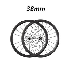 700C 38mm Depth Carbon Clincher Road Bicycle Bike Wheelset Carbon Fiber Wheels
