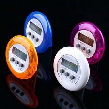 New Cute Mini Round LCD Digital Cooking Home Kitchen Countdown UP Timer Alarm IE