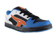 AirWalk Reflex Mens Black/Blue Casual Skate Lace Up Padded Shoes Trainers