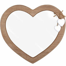 BEAUTIFUL, QUALITY, LOVE HEART DRIFTWOOD MIRROR. SHABBY CHIC STYLE. RED OR WHITE