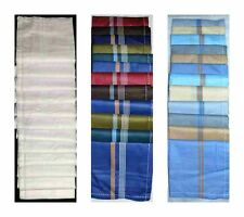 Mens Handkerchiefs 100 % Cotton 12 Pack Premium Square Soft Cotton Washable