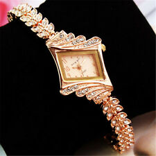 New Fashion Women Alloy Crystal Quartz Rhombus Bracelet Bangle Wrist Watch 1pcs