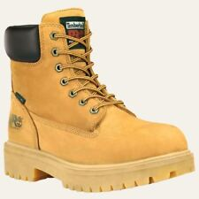"""Timberland Pro Boots Mens Direct Attach 6"""" Soft Toe Waterproof & Insulated Wheat"""