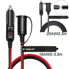 WOW - 3M Car Cigarette Lighter Socket Extension Cord Power Cable 14AWG 20AWG 12V