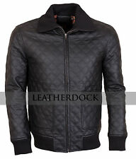 Men Brown Casual Embroidered Retro Bikers Synthetic Leather Jacket