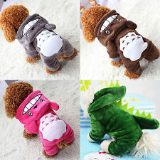Pet Dog Winter Warm Clothes Cat Totoro Sweater Hoodie Coat Puppy Apparel Costume