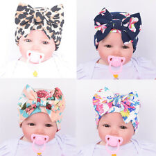 Baby Floral Bowknot Beanies Lovely Newborn Infant Toddler Hat Comfy Hospital Cap