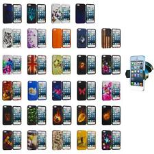 For iPhone 5S 5 5G Hard Snap-On Design Rubberized Skin Case Cover+Car Mount