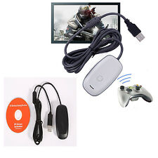 OFFICIAL MICROSOFT XBOX 360 WIRELESS CONTROLLER RECEIVER FR WINDOWS PC GAMING XV