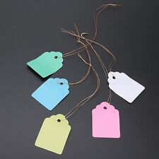 100 x Garden Plant Pot Tags Labels Nursery Hanging Strip Line Markers 5*3.5cm