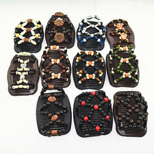 1Pc Retor Wooden Beads Hair Grips Magic Beads Comb Hair Clips Accessory Jewelry