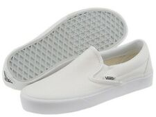 Vans Classic Slip On True White Mens Womens Canvas Shoes Size 7.5-13 VN-OEYEW00