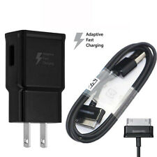 Original OEM Black Fast Wall Charger with 1M 30Pin Cable For Samsung Galaxy Tab