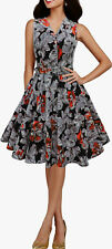 CLASSIC VINTAGE FULL CIRCLE ROCKABILLY SWING PIN UP PROM DRESS SIZE 8-24