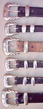 Lucchese Classics Hand Made Exotics Belts, Sizes (32 & 38)