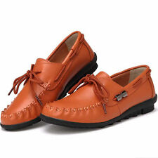 Womens Casual Flats oxfords Leather Shoes Lazy Peas Driving Loafers Moccasins