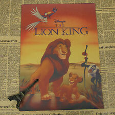 The Lion King Movie Poster Retro Kids Child Gift Room Anime Cartoon Poster A1281