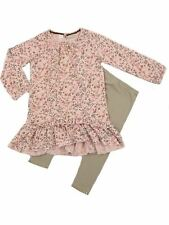 Next Baby Girls 2 Piece Pink Floral Print Tunic Top Leggings set Ages 3-12mths