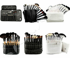 12/18/20/24/35/36pcs Pro Beauty Cosmetic Make up Brush With Leather Case Bag Set