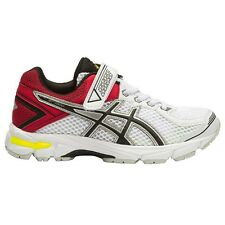 Asics GT-1000-4 JUNIOR BOY'S RUNNING SHOES, WHITE/BLACK/RED - Size US 10 Or 11