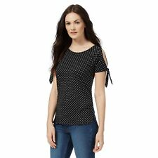 The Collection Womens Black Spot Print Top From Debenhams