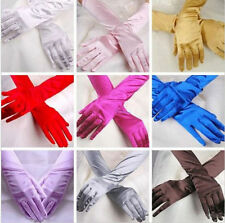 Hot Opera Prom Costume Evening Party Bridal Satin Long Gloves Wedding Gloves