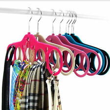 5 Ring Scarf Hanger Hole Designed Ties Belts Hanger Holder Closet Organizer 1Pc