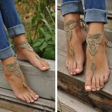 Dance Yoga Foot Jewelry Sandals Crochet Barefoot Anklet Knit Anklet Beach