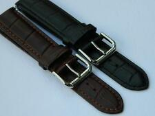 Watch Strap Replacement Genuine Calf Leather Embossed Crocodile Pattern