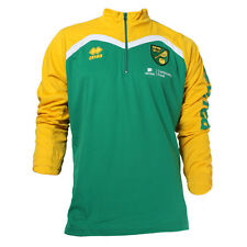 OFFICIAL NORWICH CITY FC 2016-17 PLAYER WORN TRAINING SWEATSHIRT GREEN/YELLOW