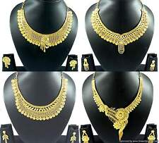 Gold Plated Necklace Earrings set Jewelry set Beautiful Indian Bollywood Jewelry