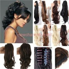 SALE Natural Hairpiece Straight Curly Wavy Claw Hair Ponytail Clip-on Pony Tail