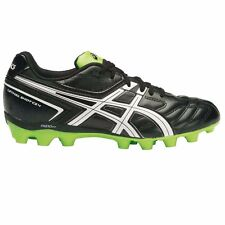 Asics Lethal Shot CS-4 JUNIOR FOOTBALL BOOTS,BLACK/WHITE /GREEN-Size US 4,5 Or 6