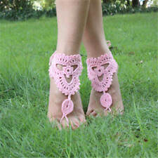 Yoga Dance Beach Sandals Foot Jewelry Crochet Barefoot Anklet Knit Anklet