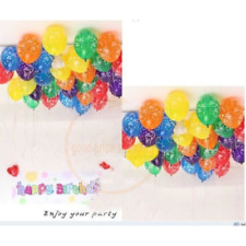 "12""inch10X100 Happy Birthday Printed Latex MIX Balloons Birthday Party baloons"