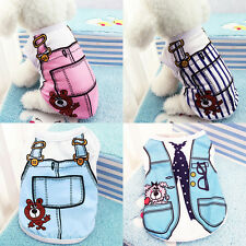 Cute Cat Small Dog Puppy Vest T-Shirts Coat Pet Clothes Summer Apparel Costume