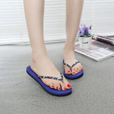 Women Fashion Floral Flat Flip-flops Antiskid Beach Summer Slippers Sandals