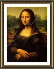 Alonline Art - FRAMED Poster Mona Lisa Leonardo Da Vinci Framed Paints Giclee