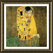 Alonline Art - FRAMED Poster The Kiss Gustav Klimt Framed Print For Bedroom