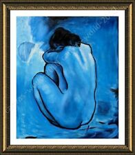 Alonline Art - FRAMED Poster Blue Nude Pablo Picasso Oil Paintings Prints