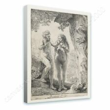 Alonline Art - READY TO HANG CANVAS Adam And Eve Rembrandt Oil Painting Print