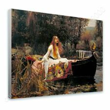 READY TO HANG CANVAS The Lady Of Shalott Waterhouse Framed Wall Art
